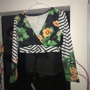 A shirt with a long skirt